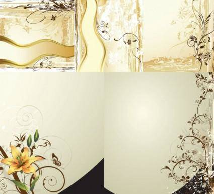 Classic case of wall graphics vector
