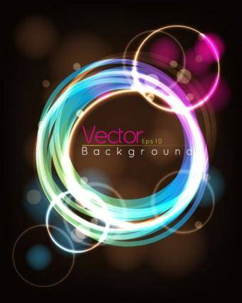 free vector Fashion halo dynamic background 02 vector