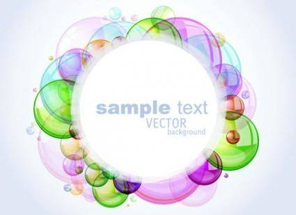 free vector Colorful bubbles background 02 vector