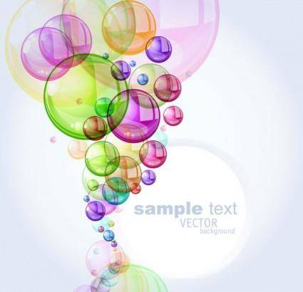 Colorful bubbles background 01 vector