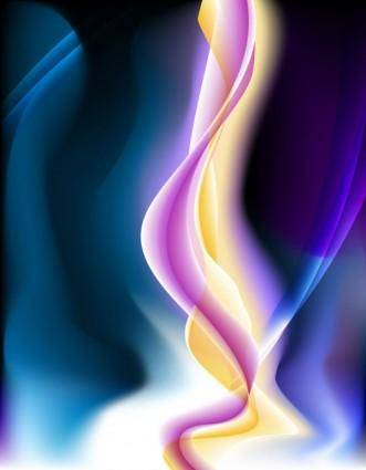 free vector Energetic and colorful flow lines background 05 vector