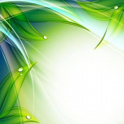 Exquisite leaf background 01 vector