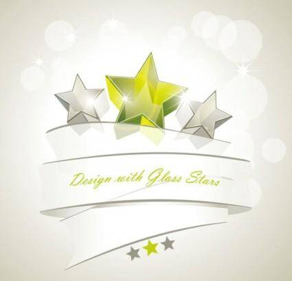 Dynamic star background vector