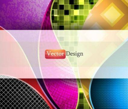 free vector Dynamic flow line background 01 vector