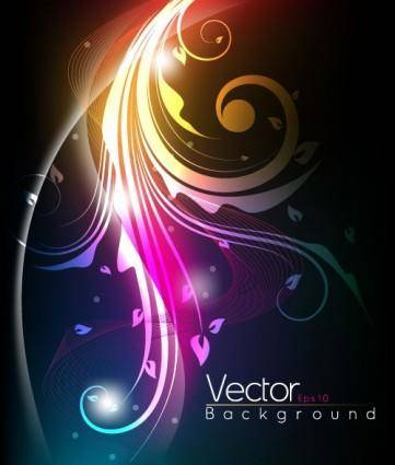 The stylish tread dynamic background vector