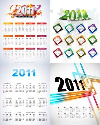 free vector Beautiful 2011 calendar template vector