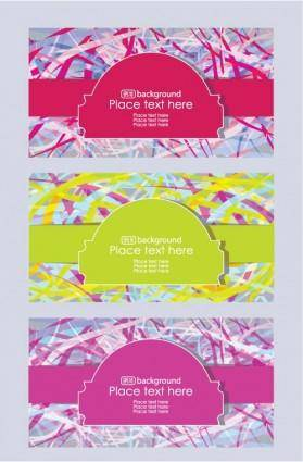 free vector Brilliant fashion label background 02 vector
