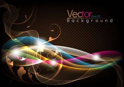 free vector Fashion halo dynamic background 03 vector