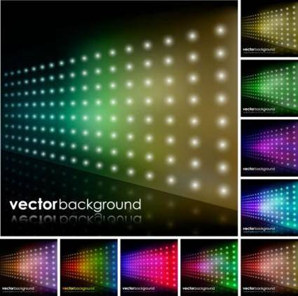 free vector Brilliant starlight background 03 vector