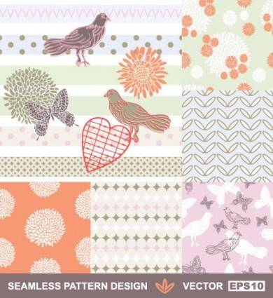 free vector Handpainted pattern background 01 vector