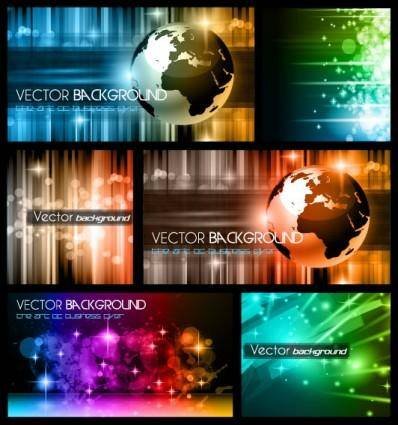 free vector Colorful trend of dynamic background 01 vector