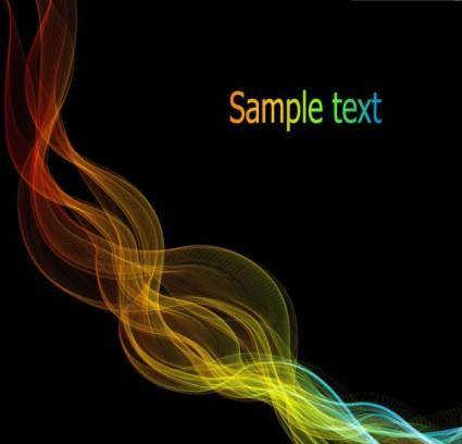 free vector Energetic and colorful flow lines background 04 vector