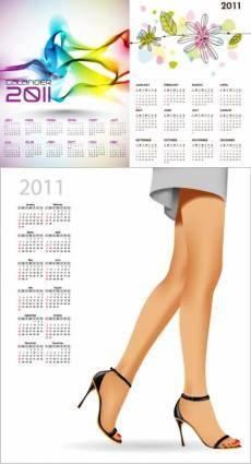 Beautiful 2011 calendar vector