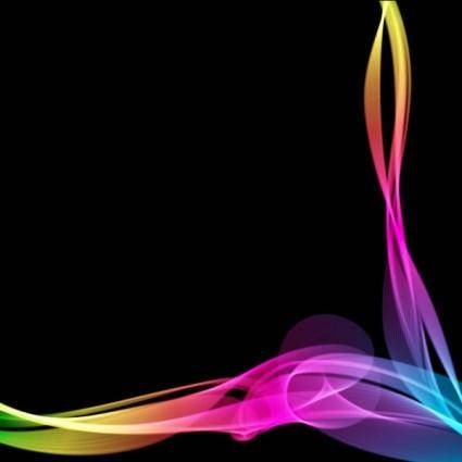 free vector Energetic and colorful flow lines background 01 vector