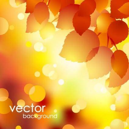 free vector Beautiful autumn background 01 vector
