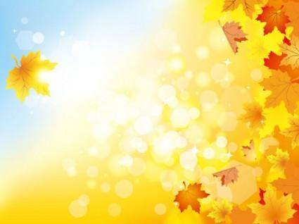 free vector Beautiful autumn background 05 vector