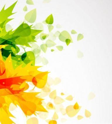 Beautiful autumn leaf background 01 vector