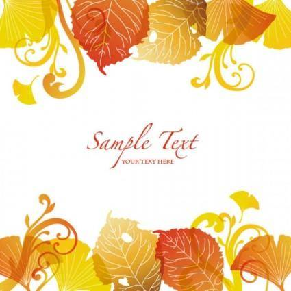 free vector Beautiful autumn leaf background 03 vector