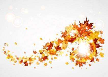 free vector Maple leaf background 01 vector