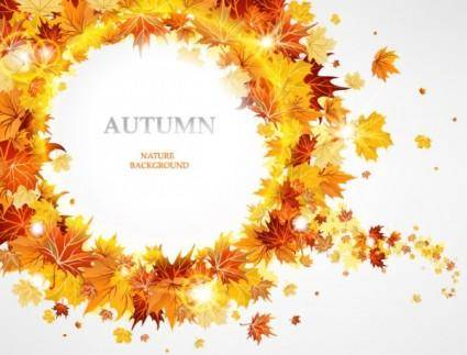 free vector Fashion maple leaf background 02 vector