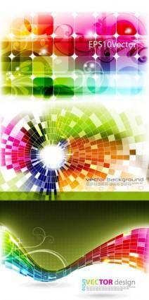 Dynamic effects light color vector