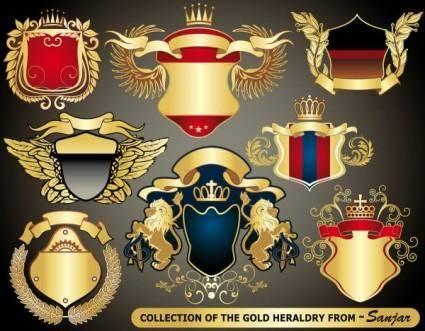 free vector European heraldry collection vector