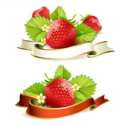 Strawberry theme background 03 vector