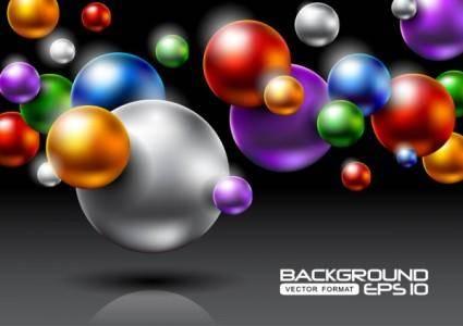 free vector Brilliant halo background 04 vector