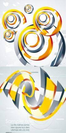 free vector Metal swirl vector