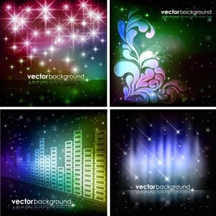 free vector Brilliant starlight background 06 vector