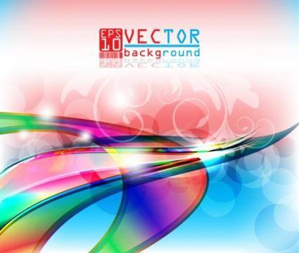 Gorgeous threedimensional background 05 vector
