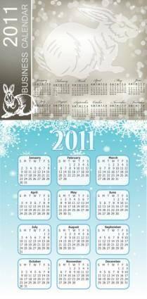 2011 calendar template 2 vector