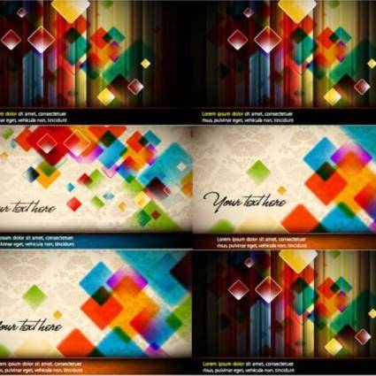 free vector Colorful vector background crystal grid