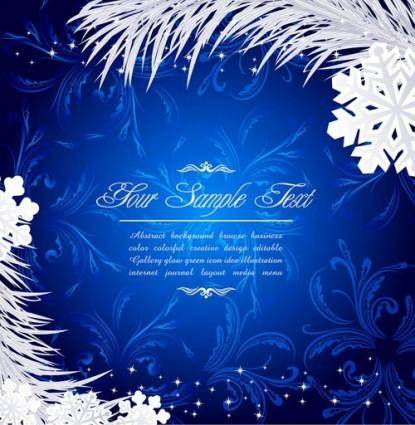 free vector Beautiful christmas snow background vector
