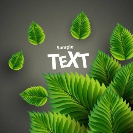 free vector Beautiful green background 01 vector
