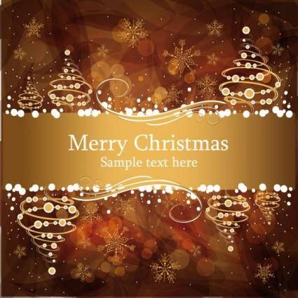 free vector Christmas gorgeous brown background 04 vector