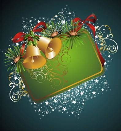 Beautiful christmas border background 04 vector