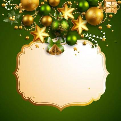 free vector Beautiful christmas border background 05 vector