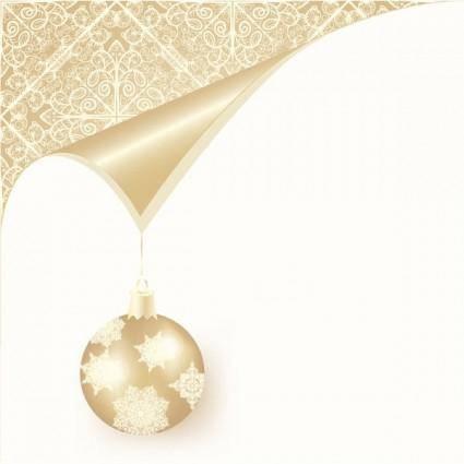 Christmas ball background 02 vector