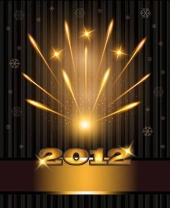 2012 bright fireworks background 01 vector
