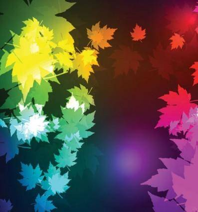 free vector Beautiful maple leaf background 02 vector