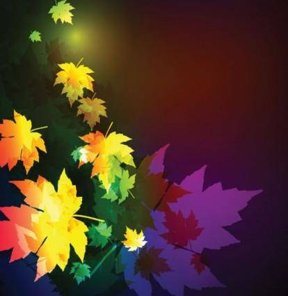 Beautiful maple leaf background 01 vector