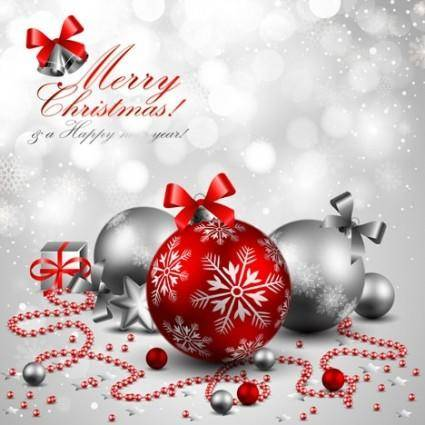free vector Beautiful christmas background 03 vector