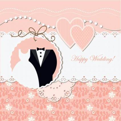 free vector Wedding label background 01 vector