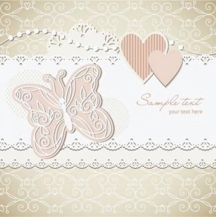 free vector Wedding label background 03 vector