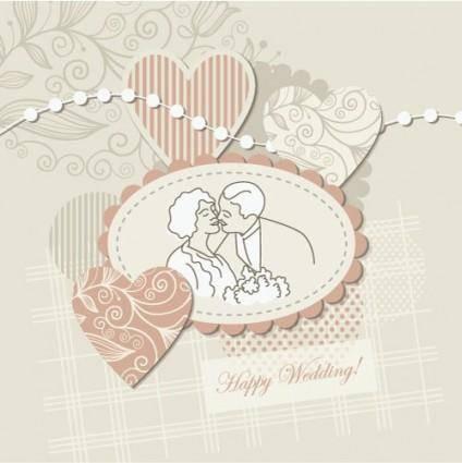 free vector Wedding label background 04 vector