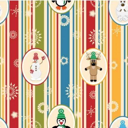 free vector Christmas cartoon background pattern 01 vector