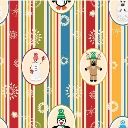 Christmas cartoon background pattern 01 vector