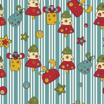 free vector Cartoon christmas design background 02 vector
