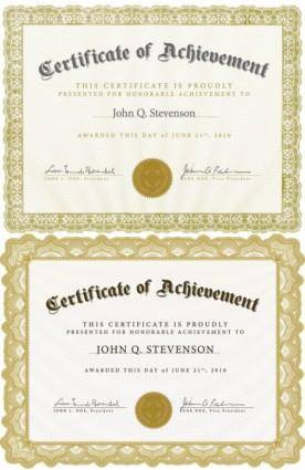 free vector Beautiful certificate template 4 vector